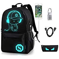 Unisex Casual Moda impermeable luminoso Anime Anti-Theft �